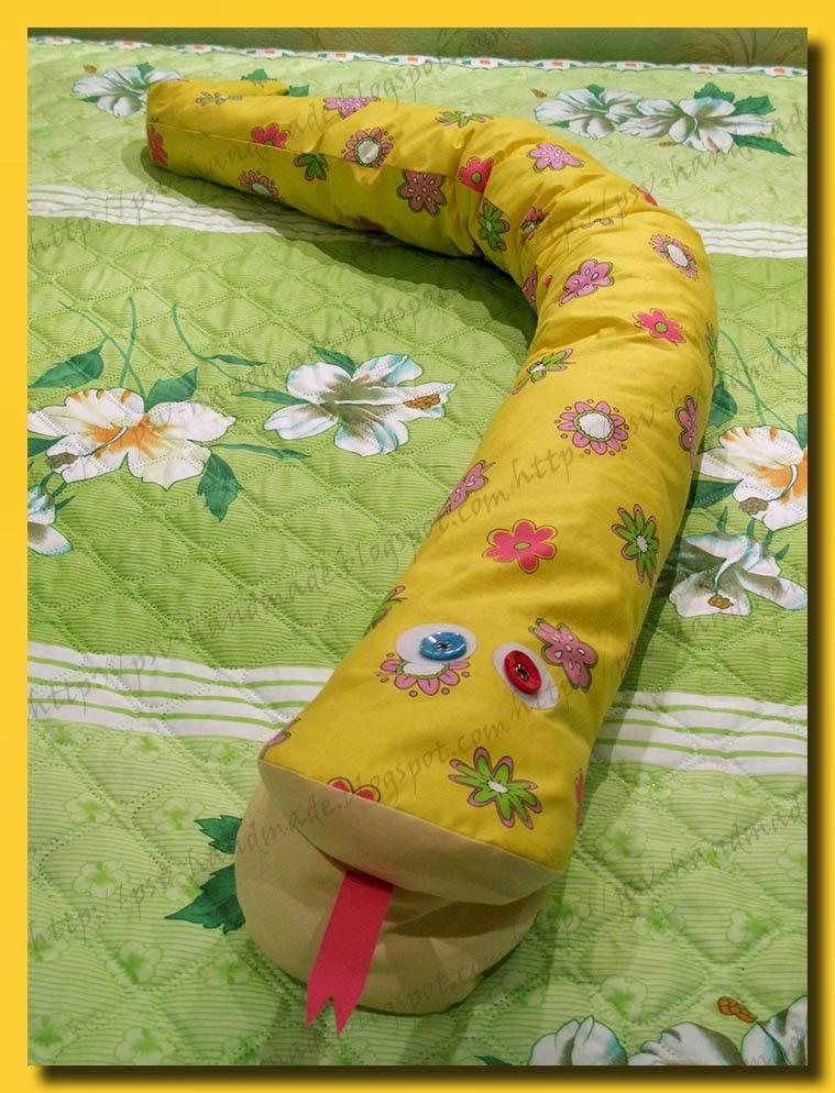 Мастер-класс по пошиву Удава подушка-игрушка с выкройкой