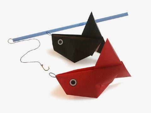 Cách gấp, xếp con cá vàng phồng bằng giấy origami - Video hướng dẫn xếp hình - How to make aBalloon goldfish