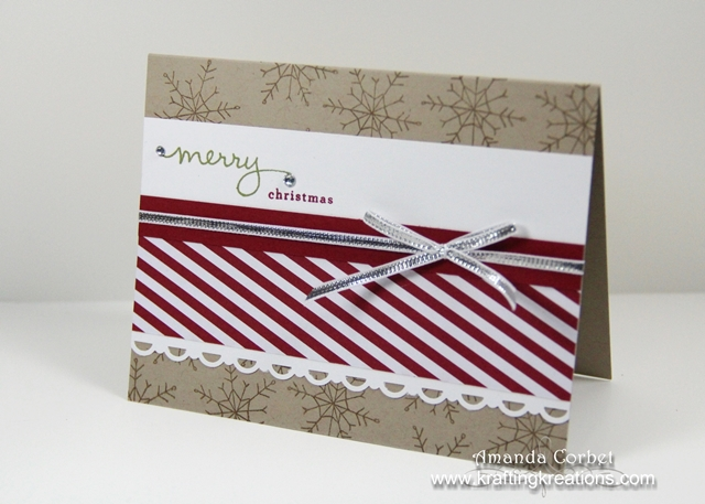 Candy Stripe Snowflakes