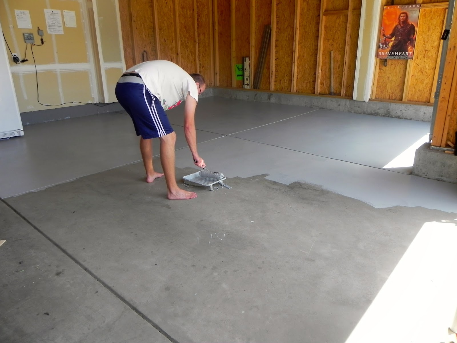 Life unexpected garage makeover completed for Painting garage floor
