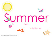 Summer Theme Printable Letter A