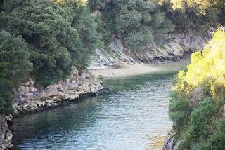 Llanes, vista del río Purón