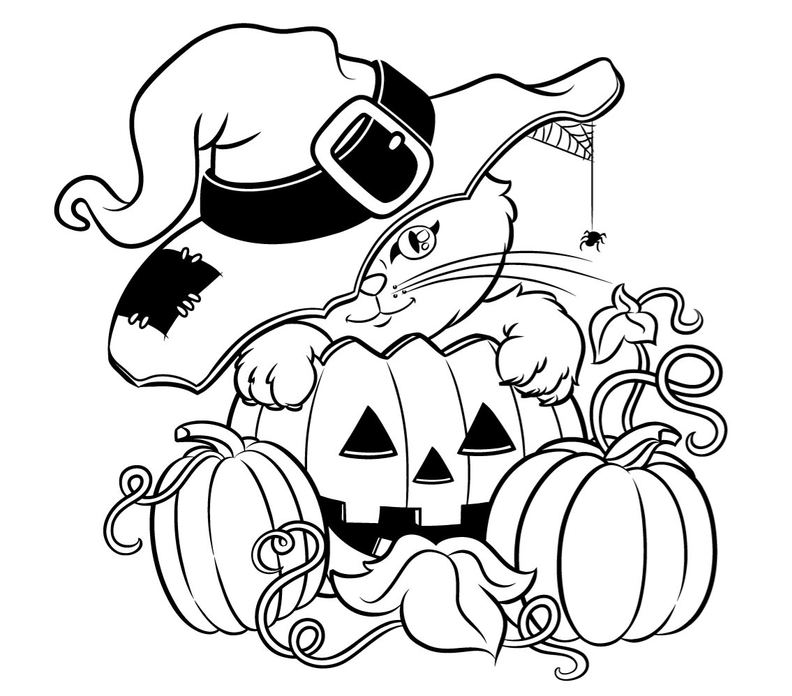 This is an image of Unforgettable Coloring Pages Halloween Printable