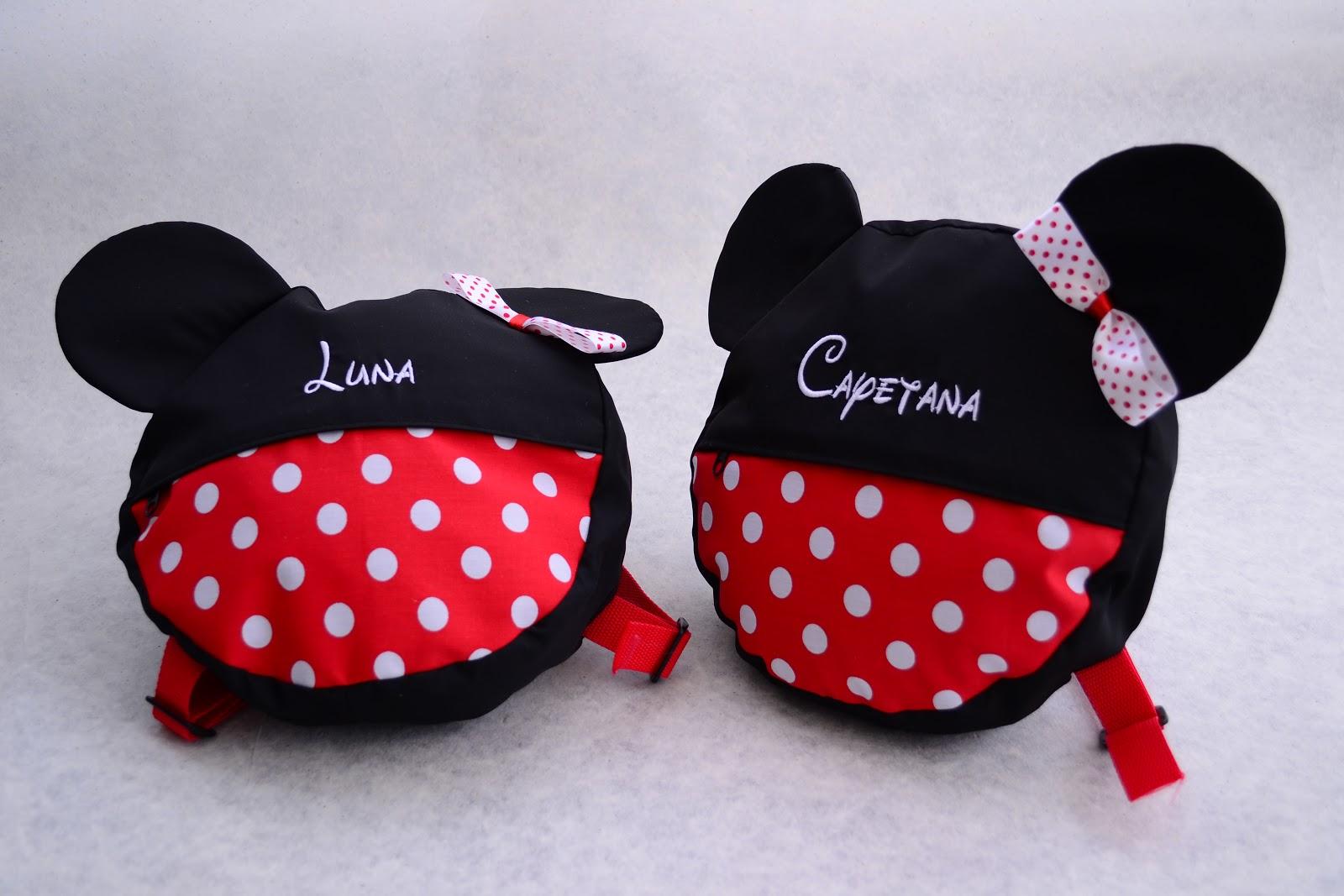 ... morrales de Minnie para las niñas y de Mickey para los niños