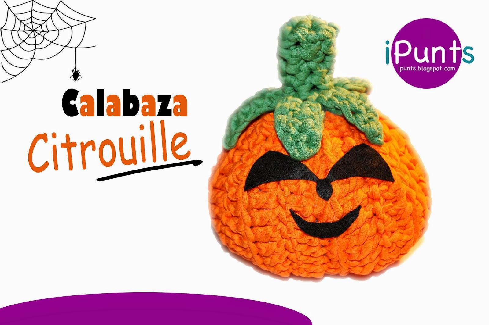 calabaza patron gratis trapillo crochet ganchillo