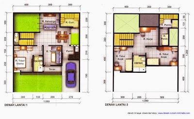 Desain Rumah Minimalis 2 Lantai Luas Tanah 90
