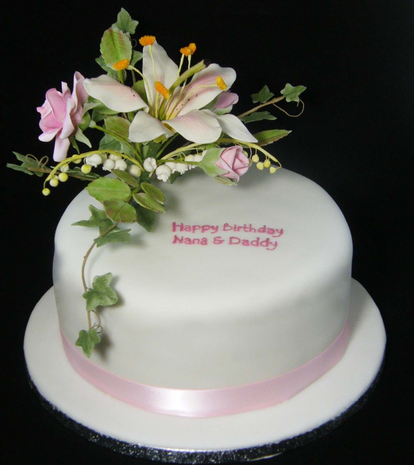Stargazer Lily Birthday Cake Image Inspiration of Cake and
