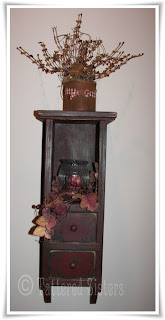 Primitive Candle Shelf