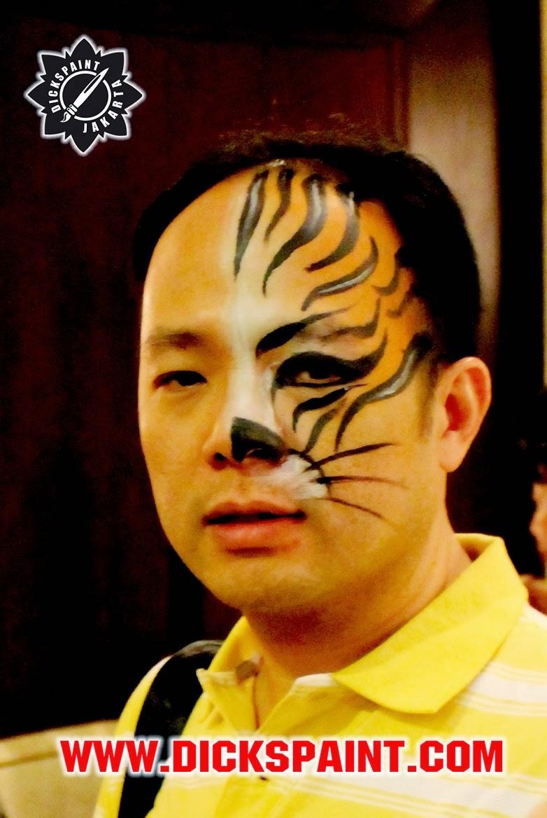 face painting jakarta tiger
