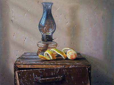 Bodegon con naranjas