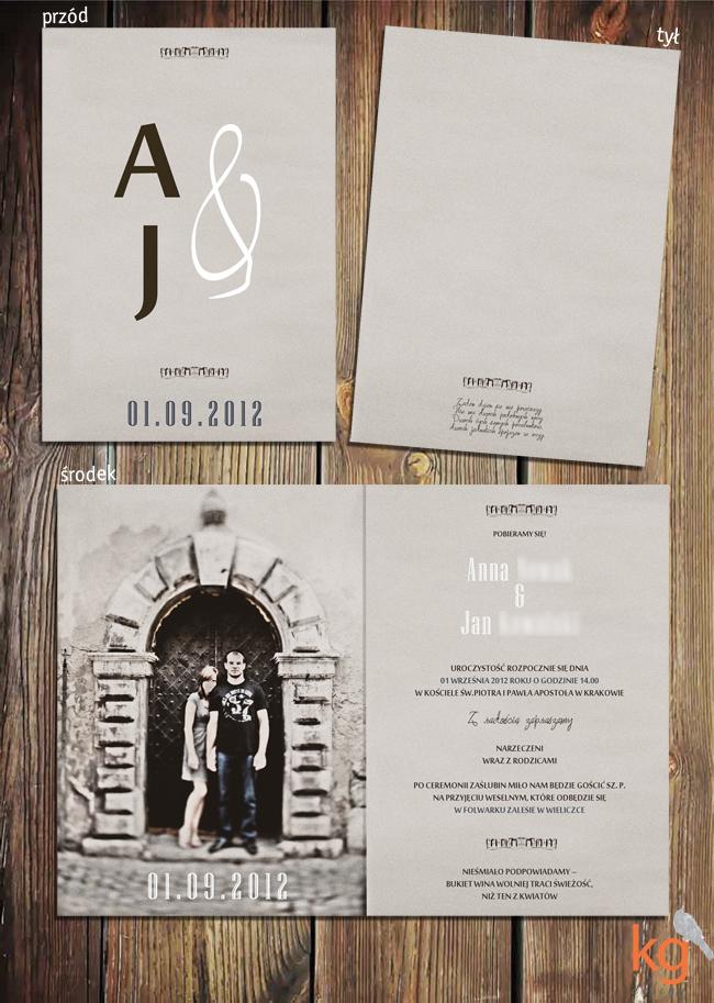 biały, brażowy, oryginalne zaproszenia ślubne, nietypowe zaproszenie na ślub, kolor piaskowy, beżowy, brąz, postarzane zaproszenie, zaproszenie ze zdjęciem, eleganckie zaproszenia, stara fotografia,