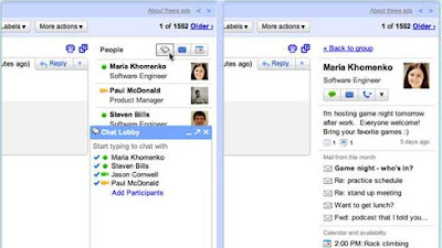 Gmail Introduces People Widget