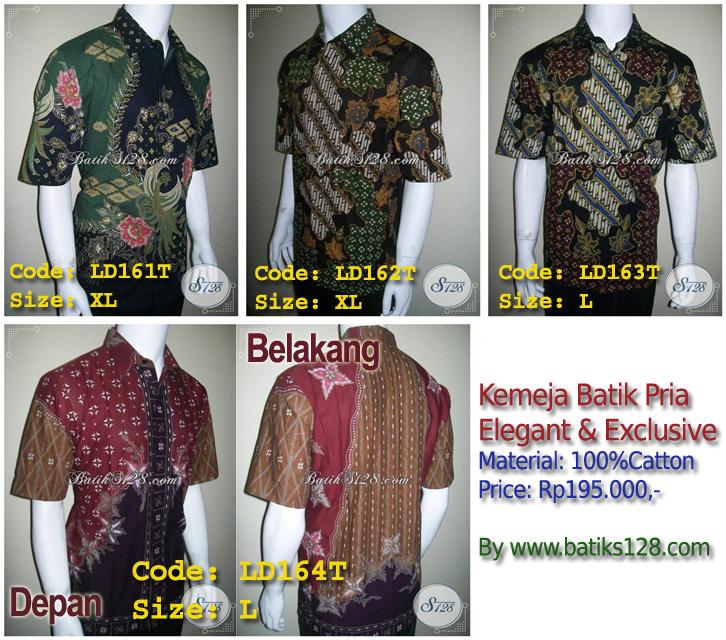 Batik Bola Solo Murah Harga Grosir Kemeja Batik Tulis Pria Modern