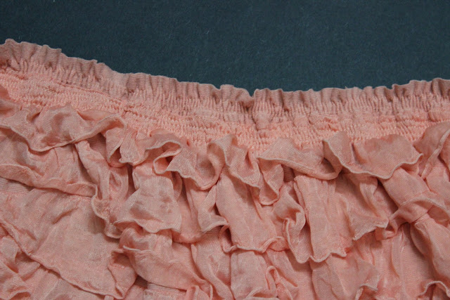 shirring the ruffle fabric