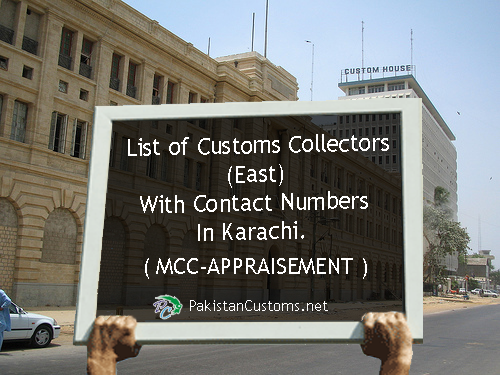 List-of-Customs-Collectors-with-Contact-Numbers-In-Karachi