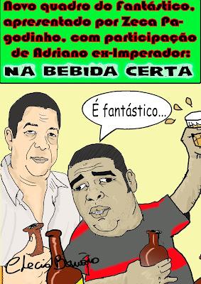 Na Bebida Certa (charge)