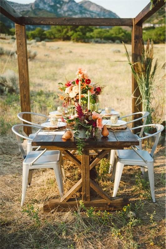 como decorar una mesa de boda