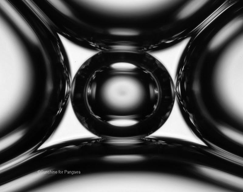 Soap bubbles microscope photo (Magnification 80x).