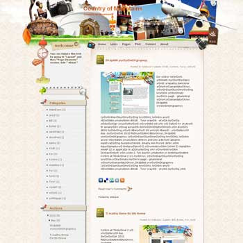 Country of Mountains template blog from wordpress. travel blog template. template blog from wordpress. travel blog template. template travel for blogger. travel template for blog