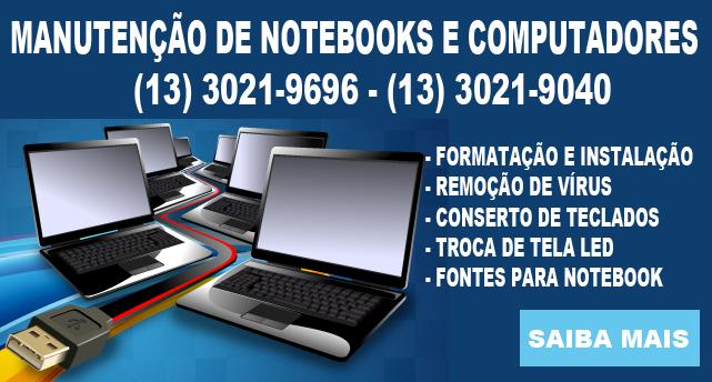 Formatação de Notebook em Santos