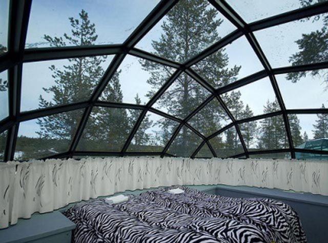 الفندق و المنتجع الزجاجي في فنلندا ، إستمتع بنظرة فريدة للشفق القطبي glass-village-resort