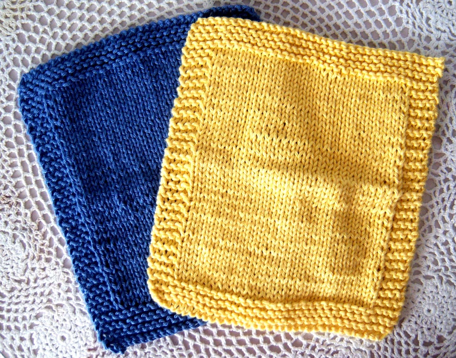 Knitting A Dishcloth Pattern Easy : Shoregirls Creations: Knitted Dishcloths