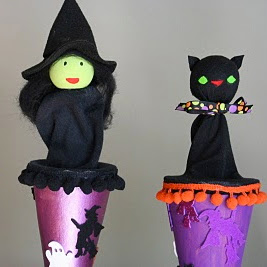 Halloween Cone Puppet Tutorial