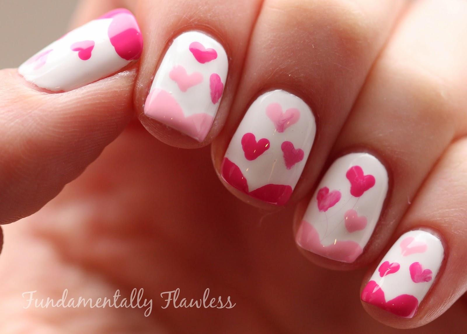 Фото рисунки на ногти сердца