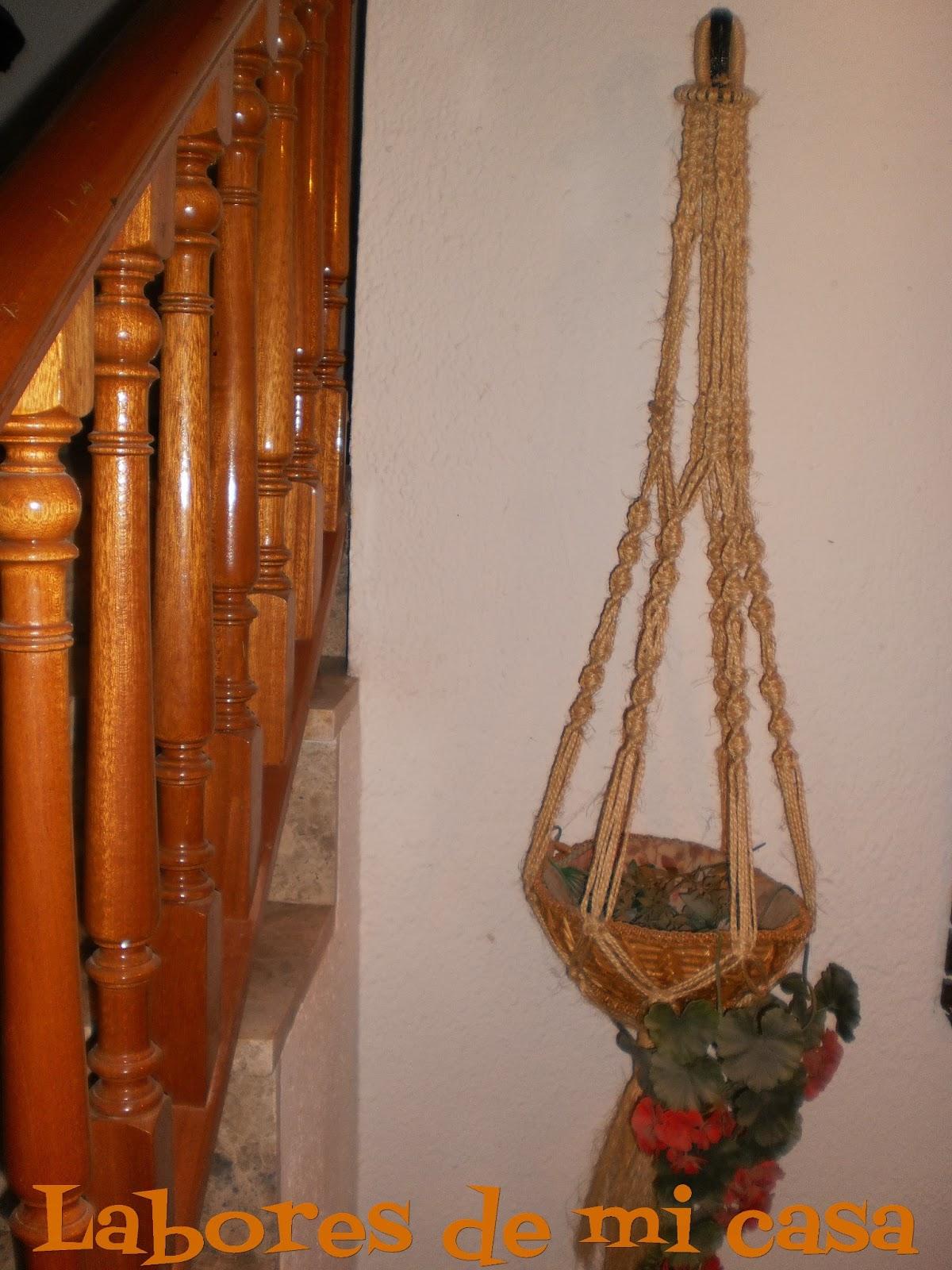 Labores de mi casa macetero de cuerda de pita - Labores de casa ...