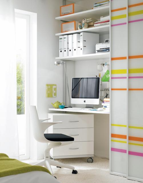 Trampolim arquitetura home office - Schlafzimmer im wohnzimmer integrieren ...