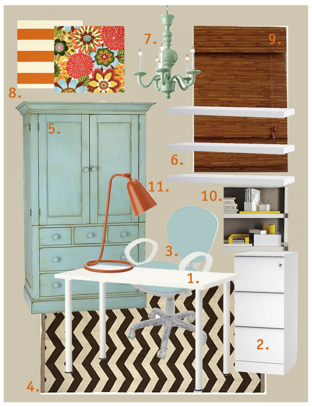 a home in the making: {inspired} craft room/office mood board