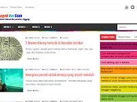Sugek dot com berganti template blog