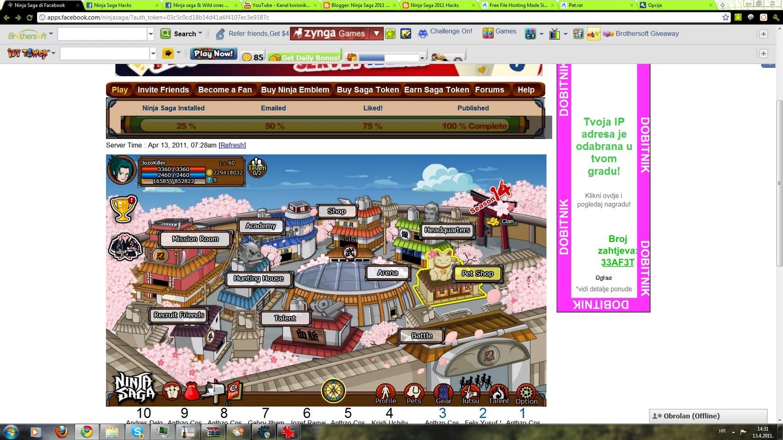 Ninja Saga 2011 Hacks