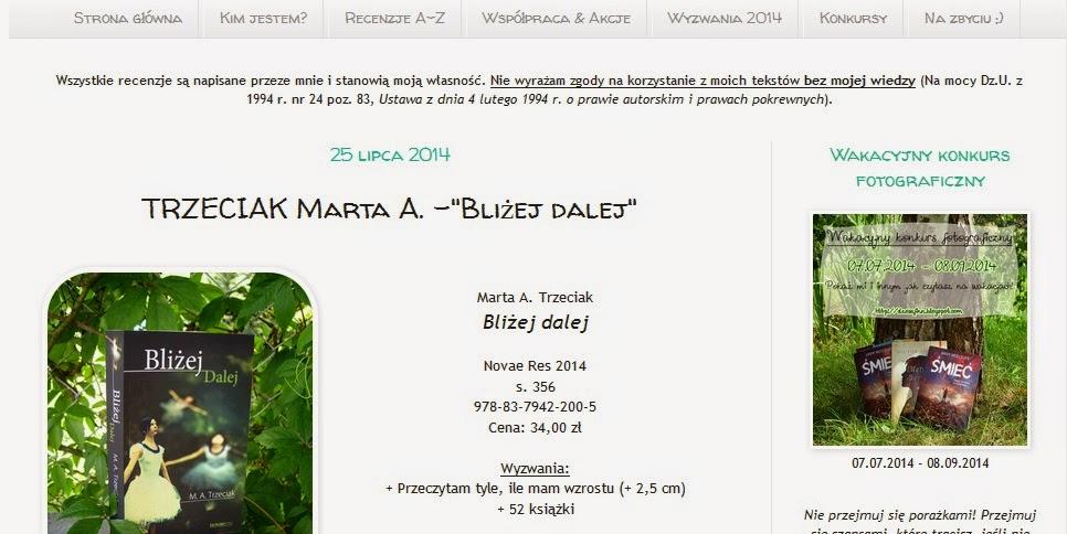 http://dzosefinn.blogspot.com/2014/07/trzeciak-marta-blizej-dalej.html#comment-form