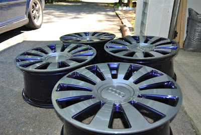 powder coaitng two tone wheels rims