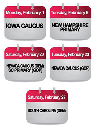 February Primary & Caucus Dates