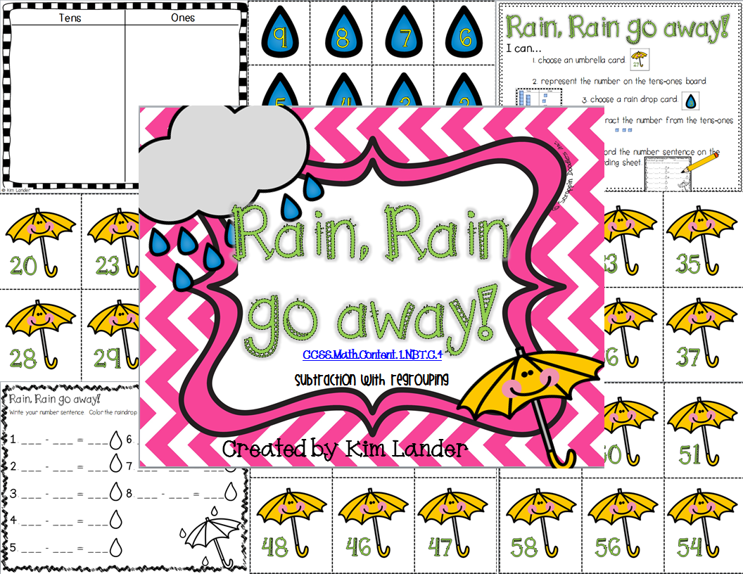 http://www.teacherspayteachers.com/Product/Rain-Rain-Go-Away-Common-Core-Aligned-1182607