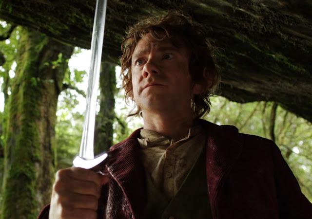 O Hobbit bilbo com espada