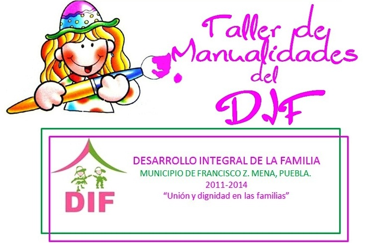Talleres de manualidades del DIF, en Metlaltoyuca, Pue.