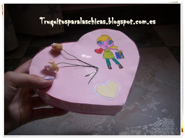Paso a paso caja en forma de corazon