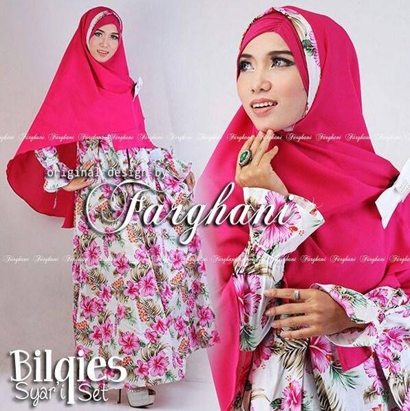 Desain Baju Muslim Gamis Syari Wanita Simple Terbaru 2016