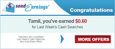 Search earnings from 4 days in a week on SendEarnings