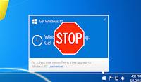 GWX Stopper ile Windows 10'a Yükselt Uyarısını Kapatın