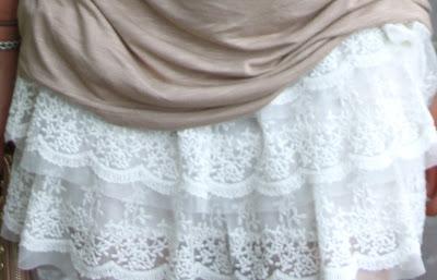 minifalda encaje