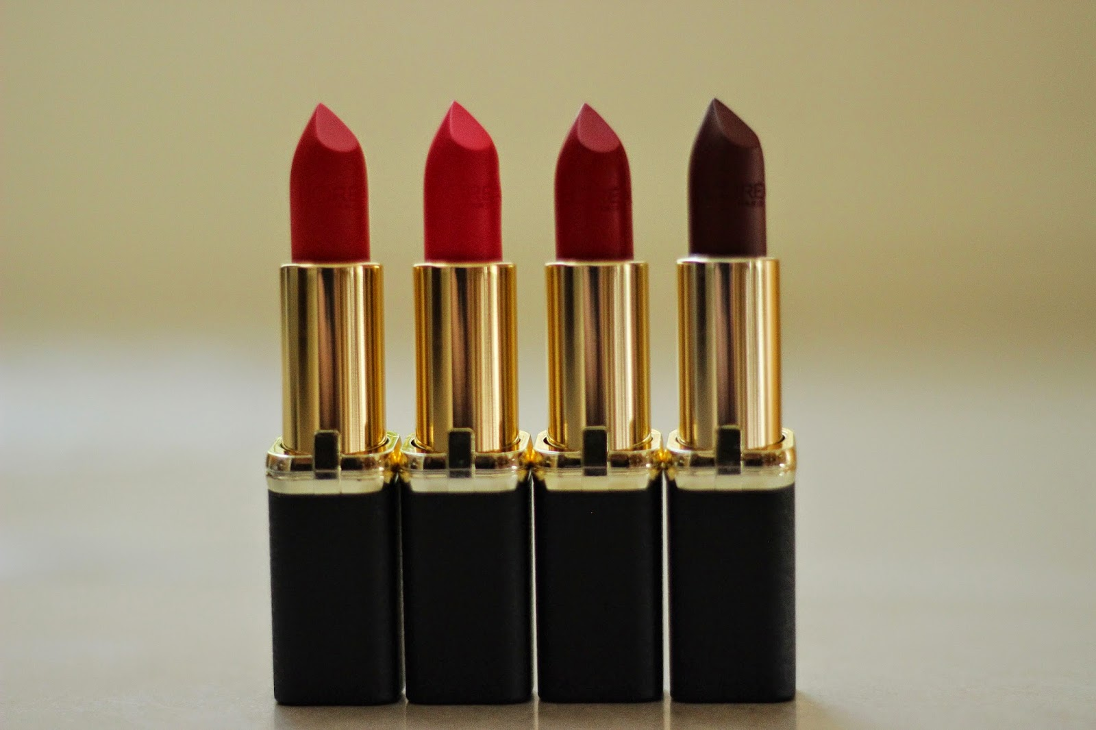 l'oréal collection exclusive pure reds lipsticks