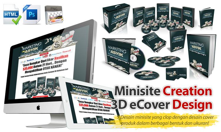 Jasa desain minisite dan cover ebook dari solusidesain.biz