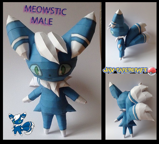Pokemon Meowstic Papercraft
