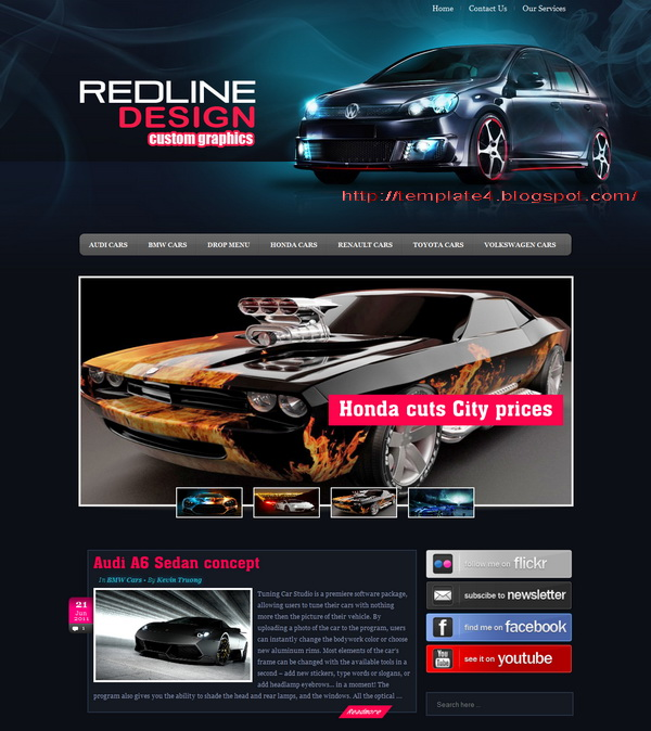 RedlineDesign WordPress Theme