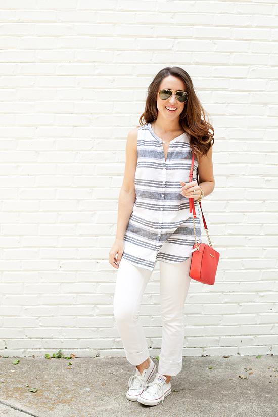 Here&Now: How to wear a sleeveless button down