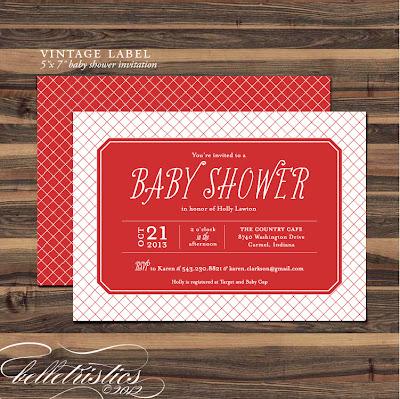 printable diy typographic baby girl boy party shower invite invitation